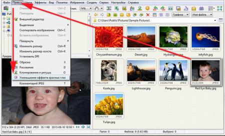 Убираем-эффект-красные-глаза-программой-Image-Viewer-1