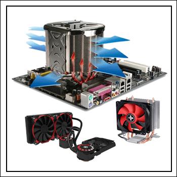 Система охлаждения процессора на компьютере