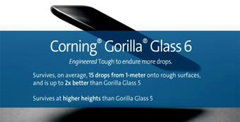 Компания Corning разработала Gorilla Glass 6