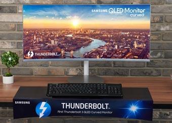 Samsung выпустил криволинейный монитор QLED с Thunderbolt 3