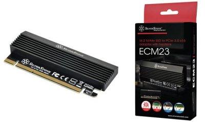 SilverStone выпускает плату адаптер ECM23 M.2 PCIe SSD
