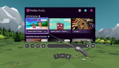 Браузер Mozilla Firefox Reality VR и AR
