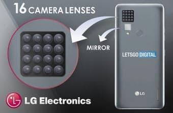 В патенте LG показывает смартфон с 16 задними камерами