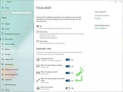 Windows 10 v18277 улучшает работу Центра действий