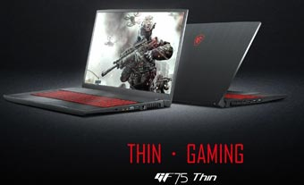 Игровой ноутбук MSI GF75 Thin с 17-дюймовым экраном