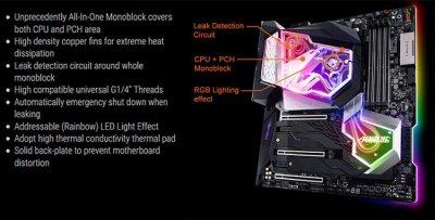 Обзор Gigabyte Z390 Aorus Xtreme Waterforce