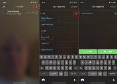 Как сгруппировать видеочат FaceTime iOS 12.1