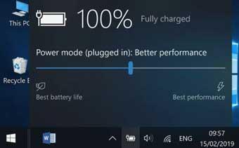Пропала иконка батареи в Windows 10?